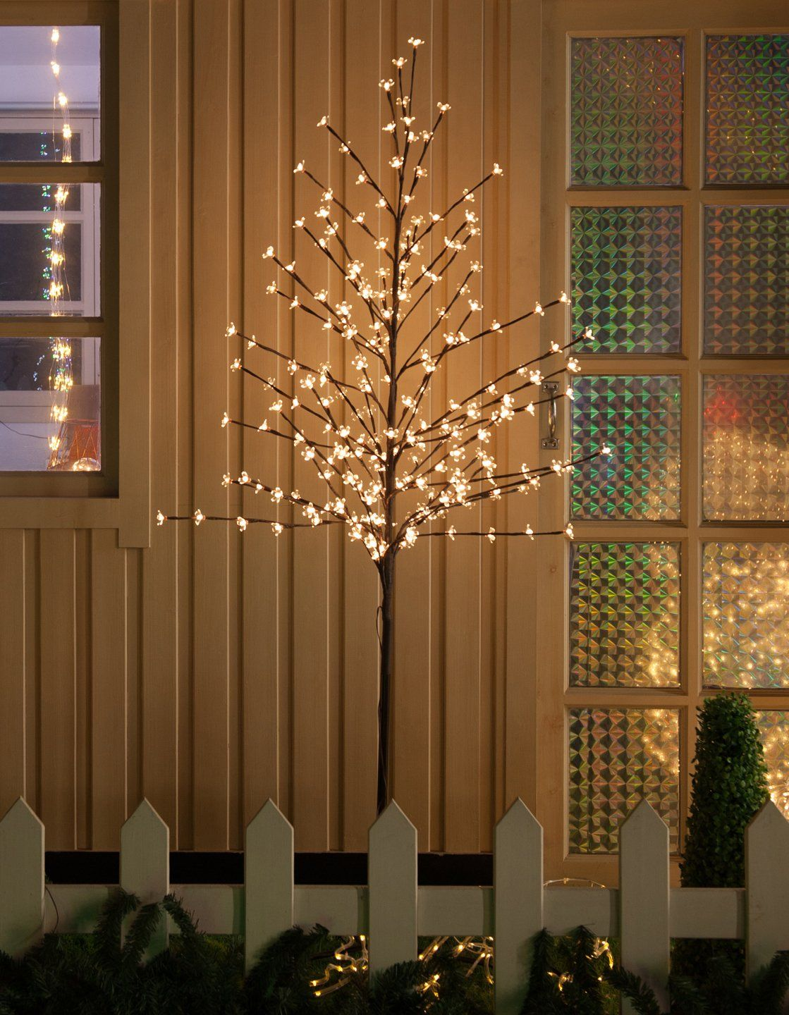 Amazon 6 Feet 208 Led Cherry Blossom Tree Lights With Flexible Branches Indoor And Outdoor Decoration Warm White Lights For 18 W Code Deals Finders Outdoor Decor Cherry Blossom Tree Tree Lighting