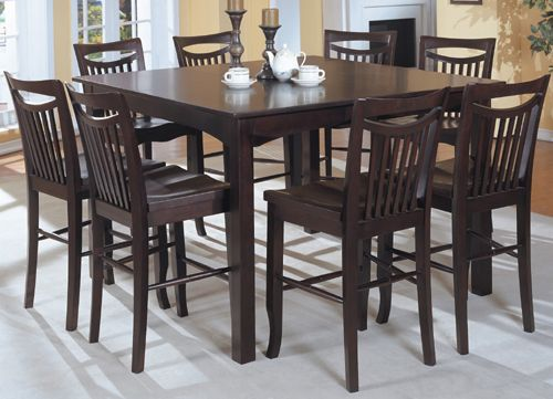 An Example Of A Tall Square Dining Room Table For Dining Room By