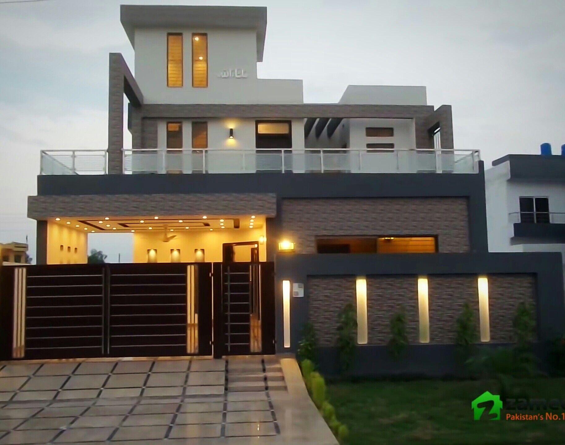 Boundary wall design  House gate design, Exterior wall design