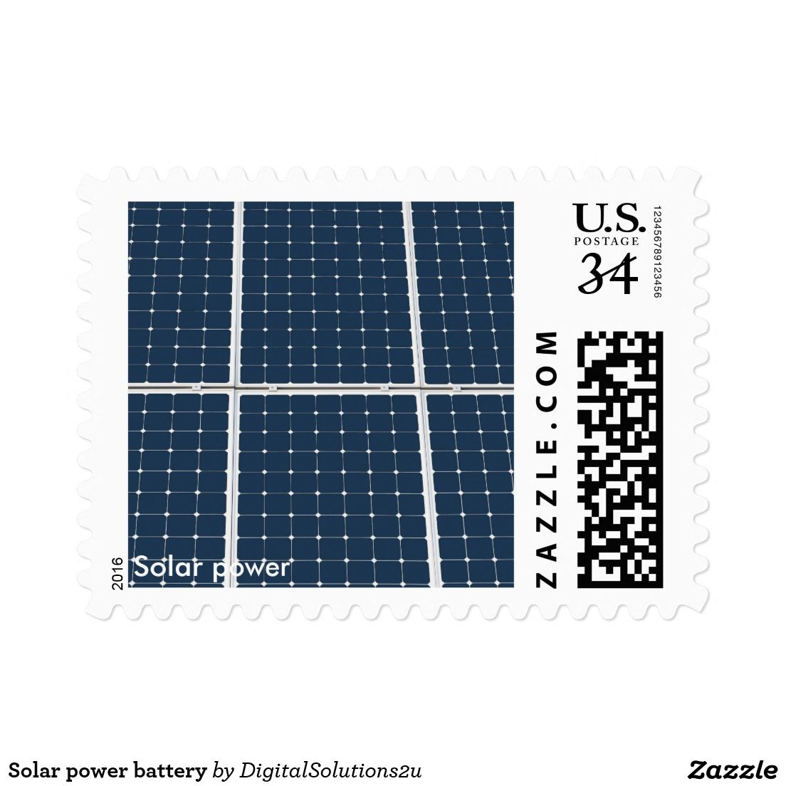 Solar power battery postage