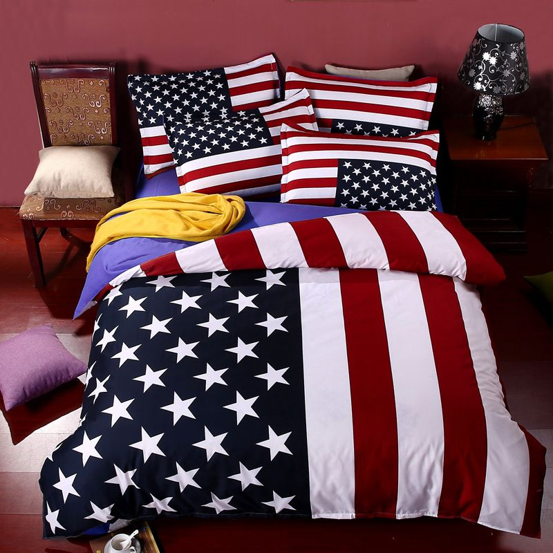 American Flag Bed Sheets
