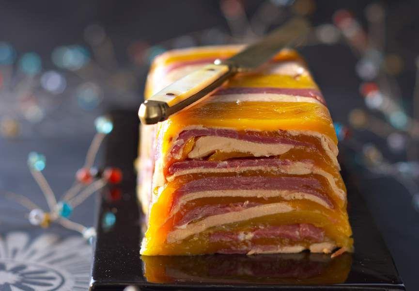 Terrine de foie gras de canard au gingembre et chutney de mangues