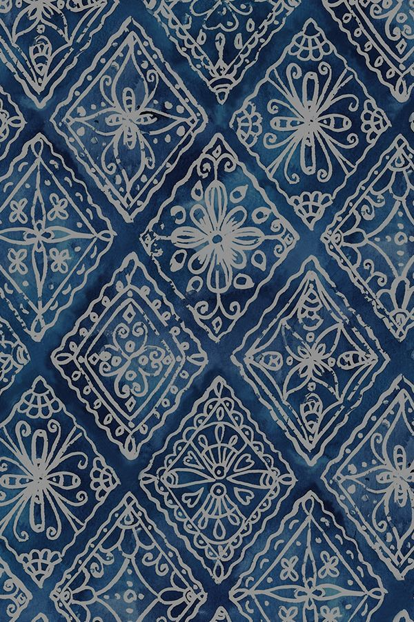 Colorful fabrics digitally printed by Spoonflower - Indigo Boho