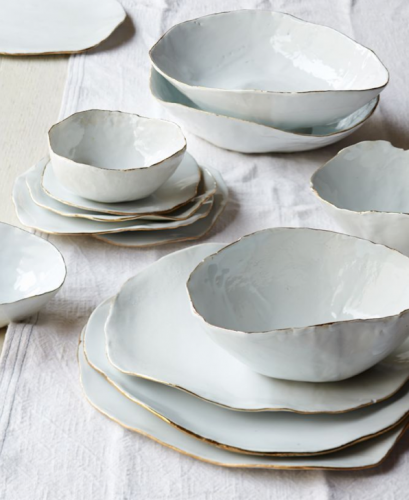 182022e2a95 Dinner Sets · Ceramic bowls  amp  plates with gold rims. BEAUTIFUL. Ceramic  Plates