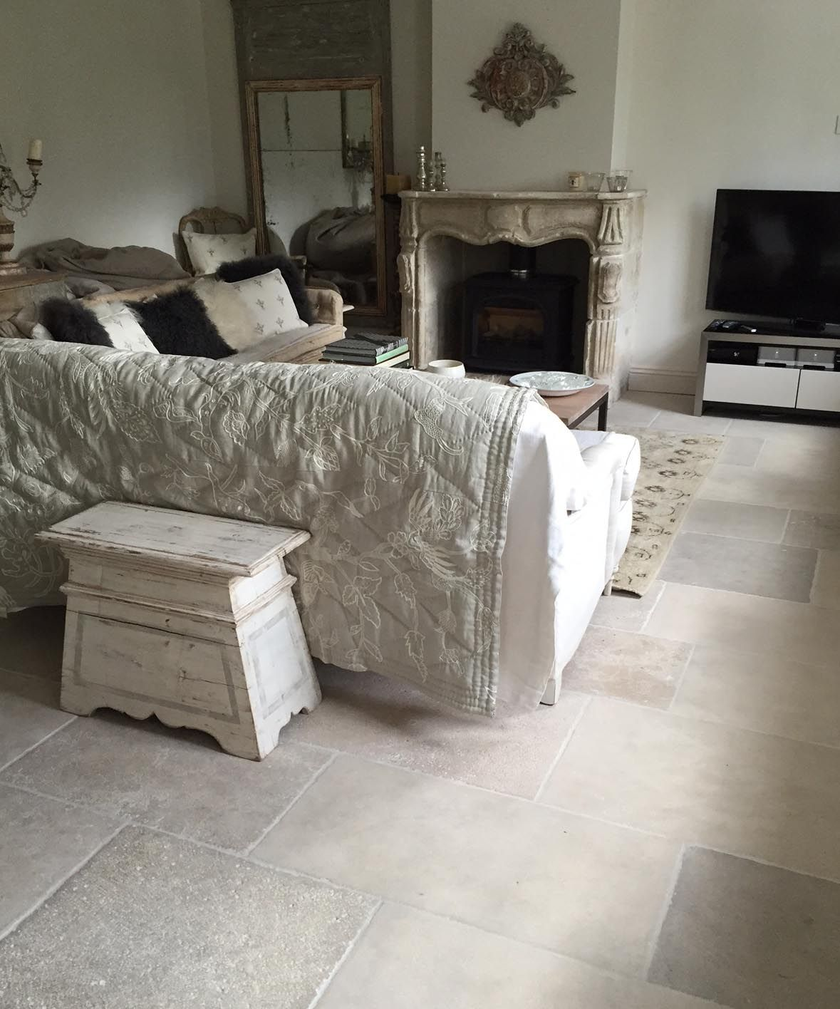 Paris casa antique limestone flooring httpwww take a look at the stunning interiors created with natural stone consultings extensive collection of antiqued and reclaimed stone flooring dailygadgetfo Image collections