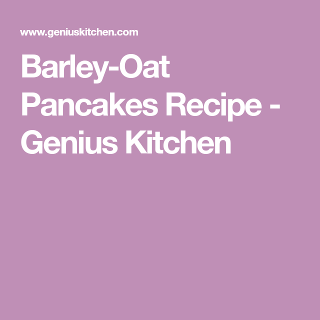 Baby Cereal Pancakes, Oat