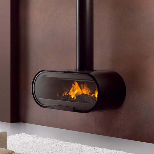 Rocal D8 Wall Mounted Wood Burning Stove Openhaarden En