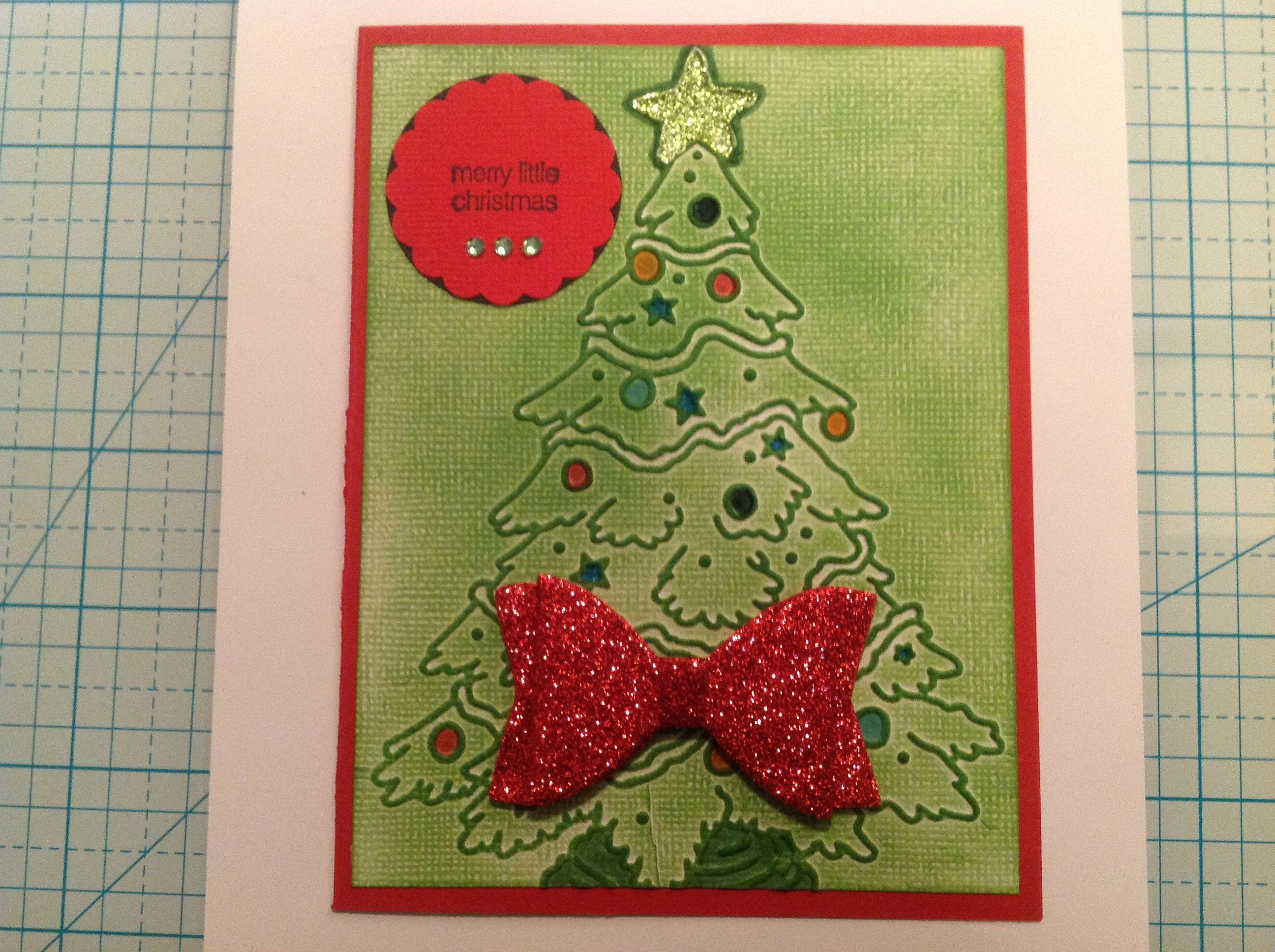 Christmas card for niece Kristin. 12/17/16