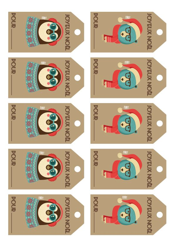 Étiquettes / / A imprimer / / Ours / / Pingouin / / | activités noël ...