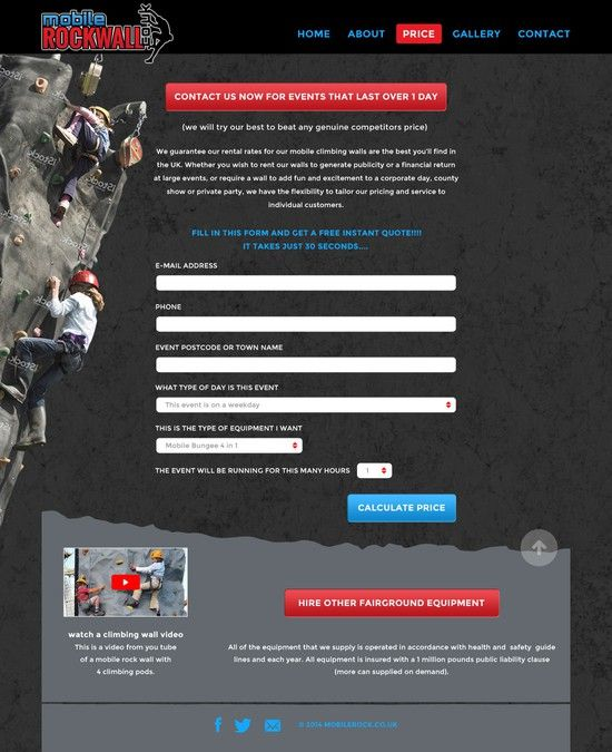 Re Design A Mobile Climbing Wall Web Site By Mvb Page Design Town Names Climbing Wall
