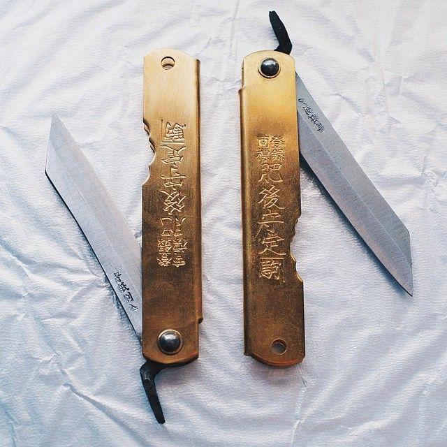 "Miyamoto Manufacturing Co traditional Higonokami ""Higo"" knife. From @handeyesupply @Hypebeast x @VSCO preset. #higo #higonokami #knifeporn..."