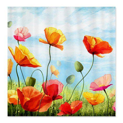 CafePress poppies flower Shower Curtain - Standard White CafePress,http://www.amazon.com/dp/B00INM4T0O/ref=cm_sw_r_pi_dp_wciotb13BM9QFHXW