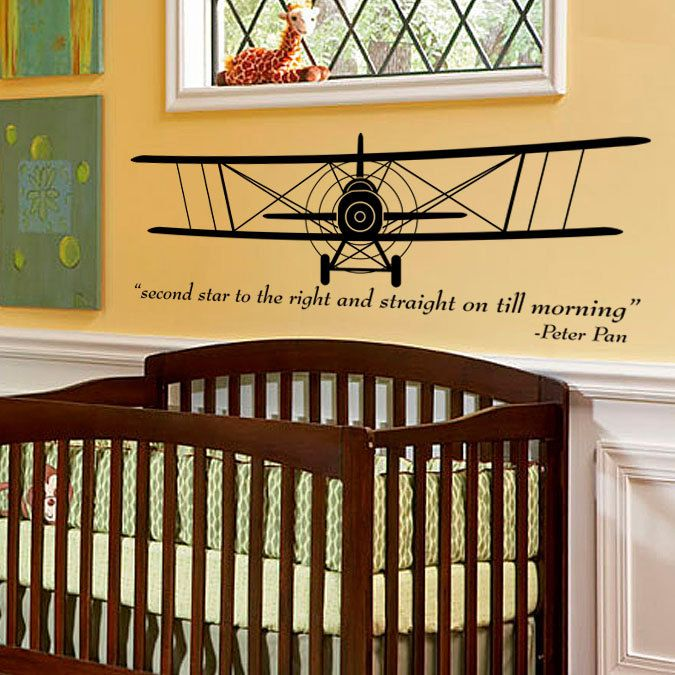 Vintage Airplane - Bi-Plane - aeronautical pilot wall art ...