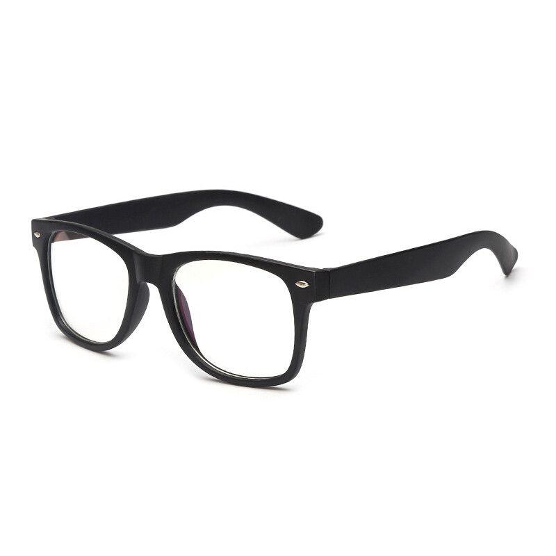 IG Unisex Retro Plain Matte Finish Clear Lens Fashion Glasses