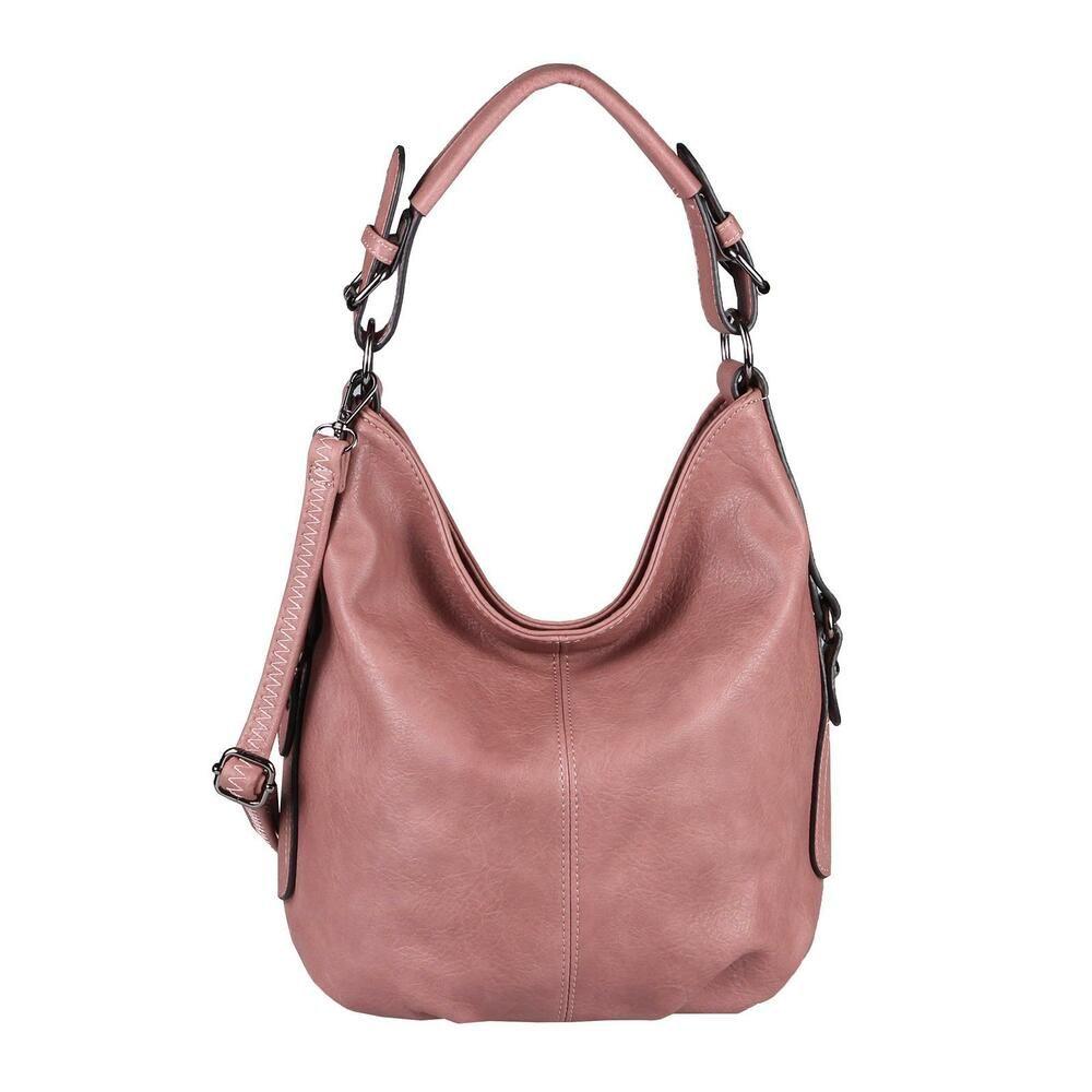 0b377005b53e88 [Werbung] DAMEN HAND-TASCHE SHOPPER Hobo-Bag Schultertasche Umhängetasche  Leder Optik: