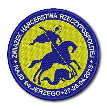 Naszywka Związek Harcerstwa Rzeczypospolitej Rajd św. Jerzego 27-28.04.2013