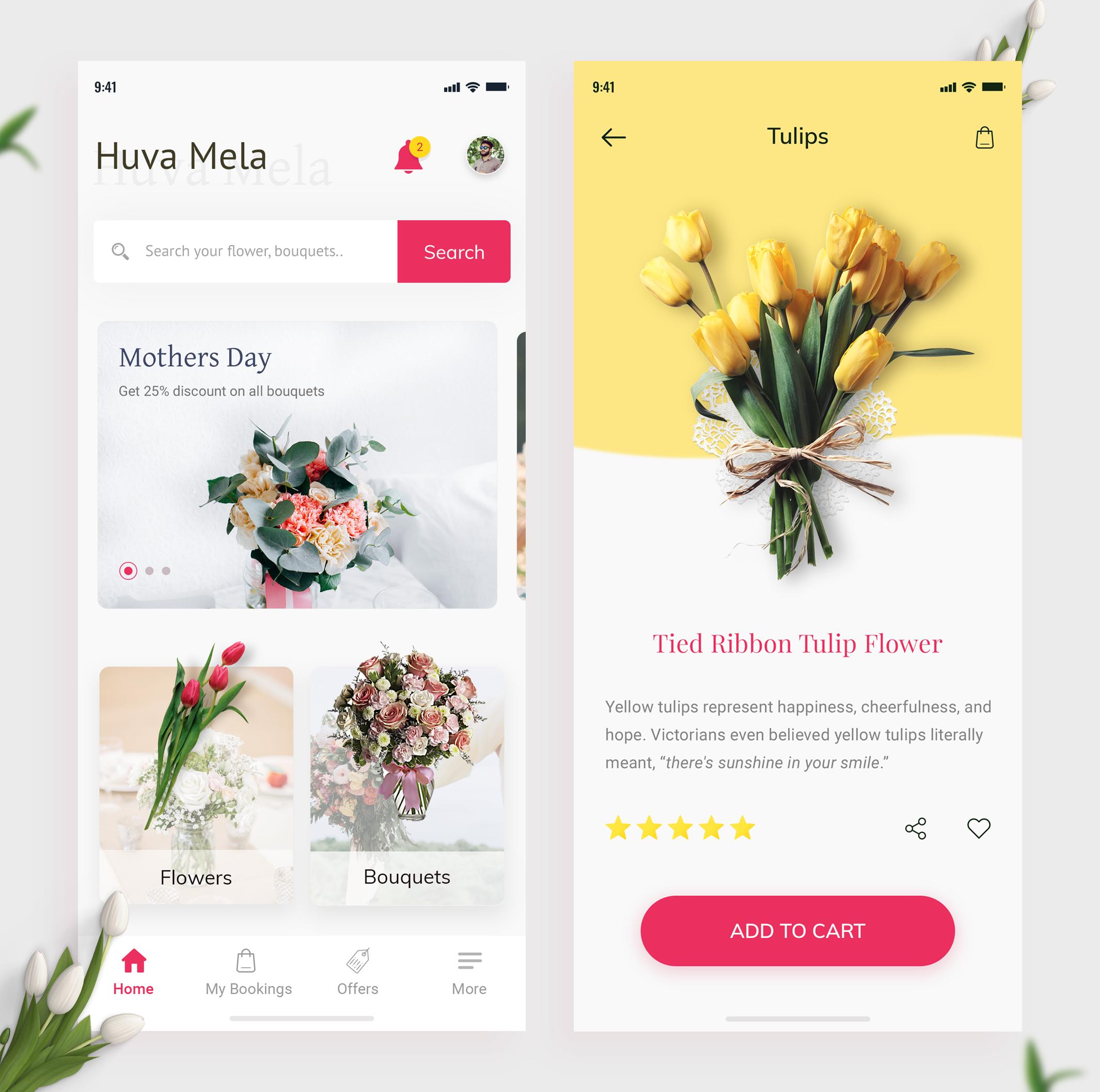 Flower App À²¹ À²µ À²® À²³ On Behance Flower App Floral Website App Design Layout