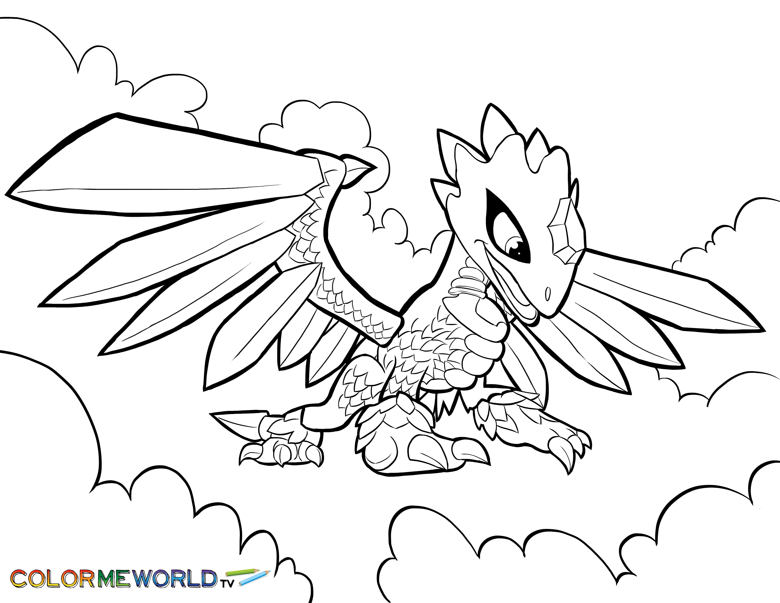 flashwing coloring page  coloring pages skylanders free