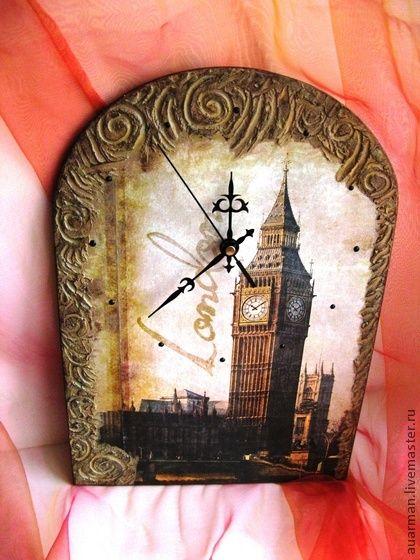 d8656766bc00 Часы для дома ручной работы. Ярмарка Мастеров - ручная работа Часы настенные  декупаж Лондон.