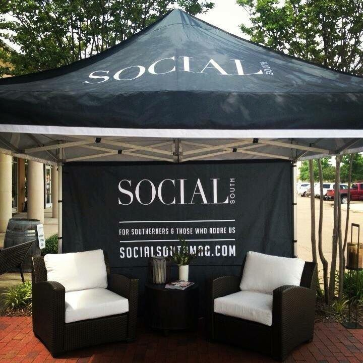 Love this custom branded EZ-UP tailgate tent for Social South Magazine by CustomTentandFlag. & Love this custom branded EZ-UP tailgate tent for Social South ...