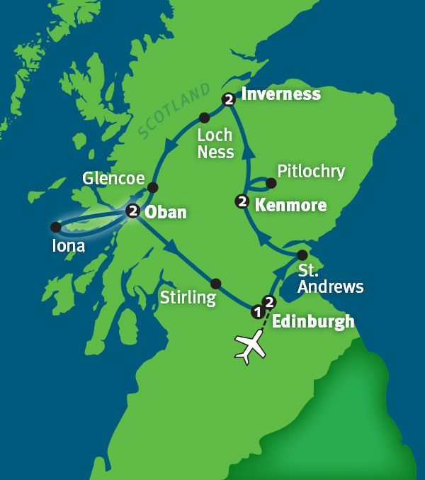 Rick Steves Best of Scotland itinerary Scotland Pinterest