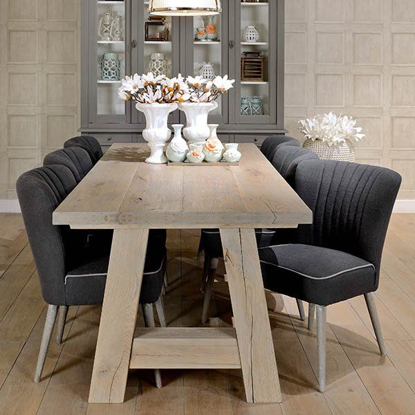 Excellent Hoxton Oak Normandy A Frame With Dining Chairs In Dining Squirreltailoven Fun Painted Chair Ideas Images Squirreltailovenorg