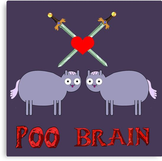 poo brain horse from adventure time
