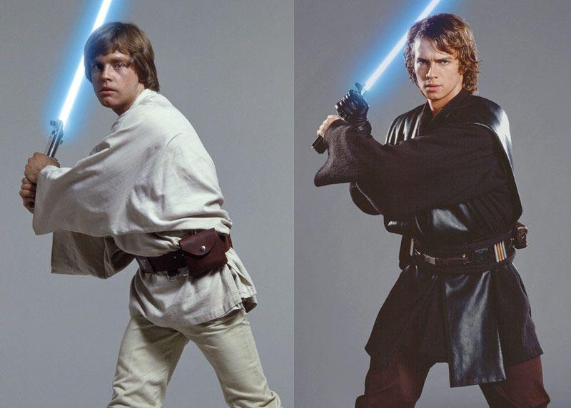 Image result for luke and anakin skywalker