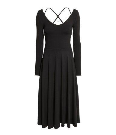 Pohjepituinen mekko | Musta | Naiset | H&M FI