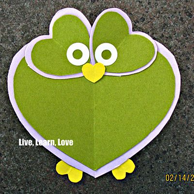 Live, Learn, Love: Owl Valentine's Day Card