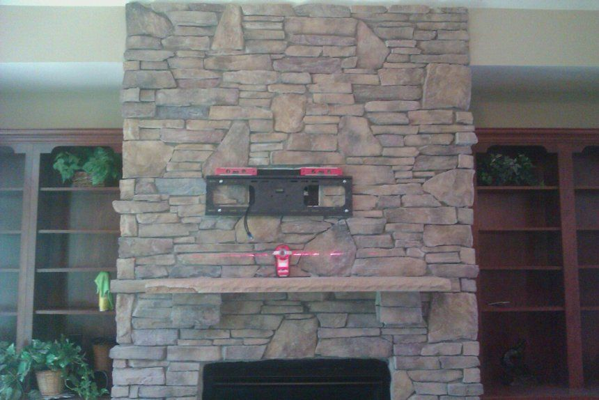 How To Install Stacked Stone On Interior Wall Ideas Exterior Faux Fireplace Inside Overlay For Brick Led Fireplace Home Theater Installation Fireplace Tv Mount
