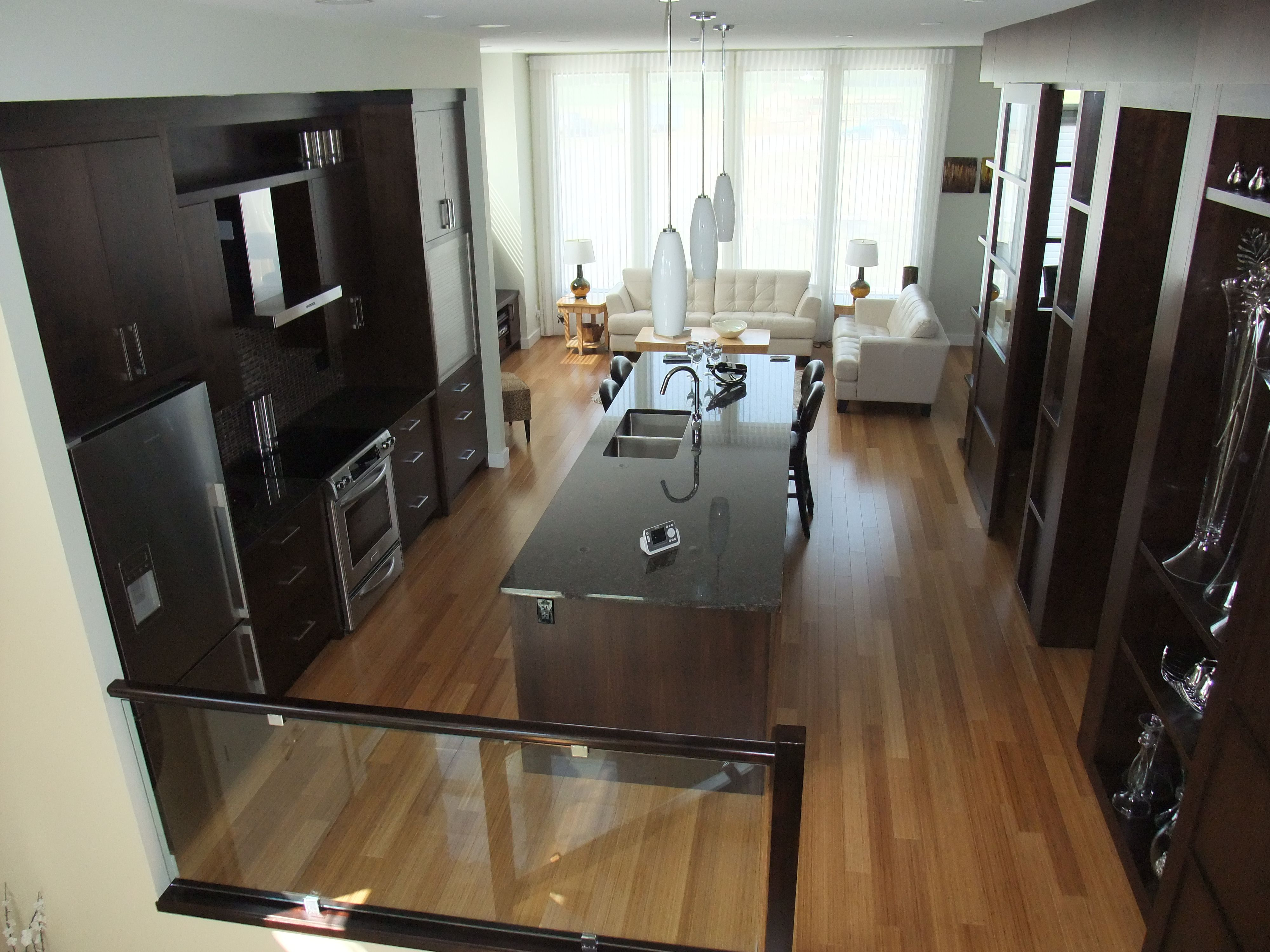 Contemporary Home In Red Deer With Bamboo Flooring By Designer Krista