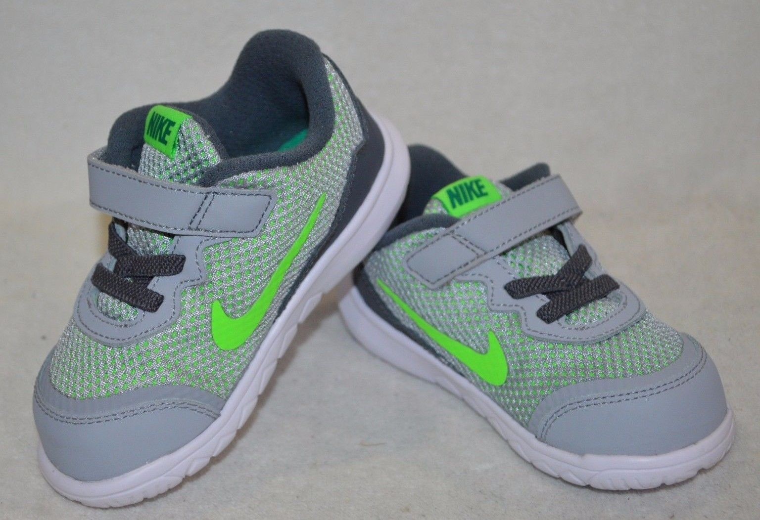 the latest 7ee8e 8a1cc Baby Shoes 147285  Nike Flex Experience 4 (Tdv) Grey V-Green Toddler Boy S  Running Shoes-Asst Size -  BUY IT NOW ONLY   34.99 on eBay!