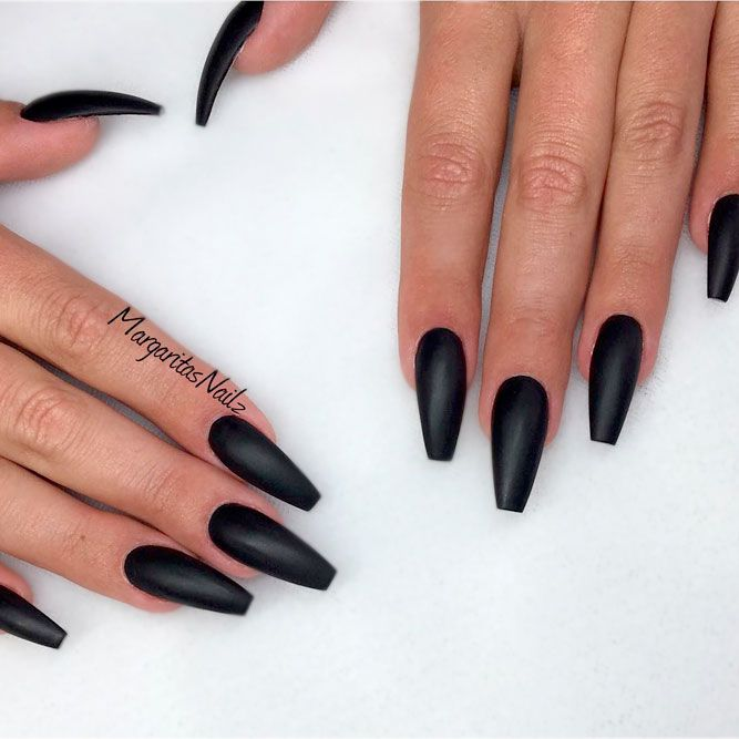 Top Most Creative Black Acrylic Nails Designs Nail Art And Polish