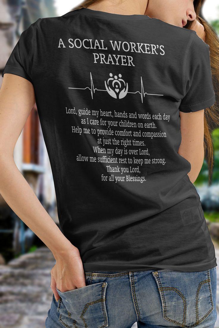 A social workers prayer social worker gift design