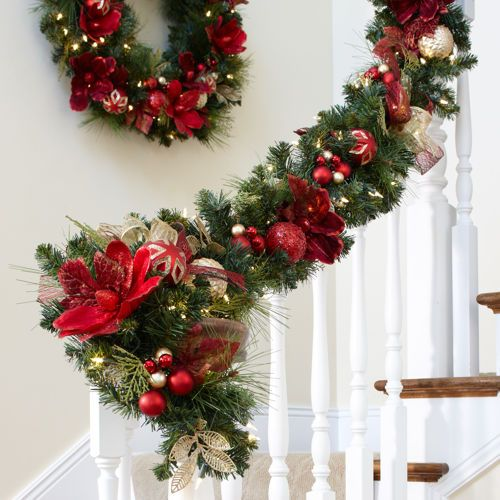 Pre Lit Outdoor Christmas Garland