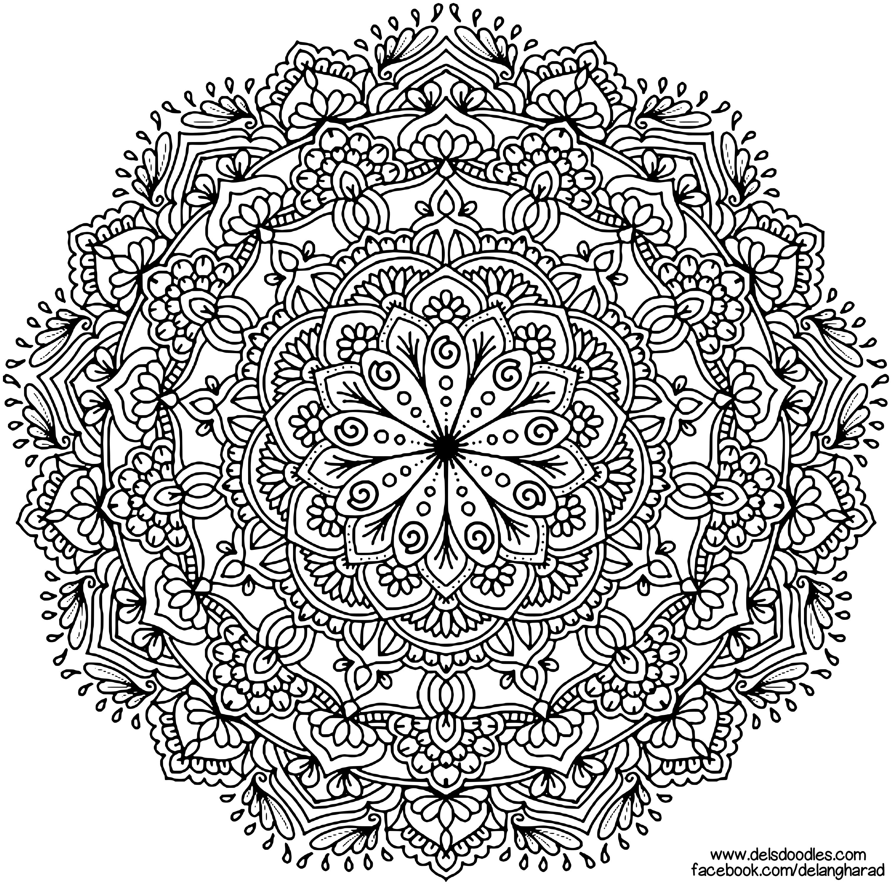 Krita Mandala 62 By Welshpixie Mandala Coloring Pages Mandala Drawing Mandala