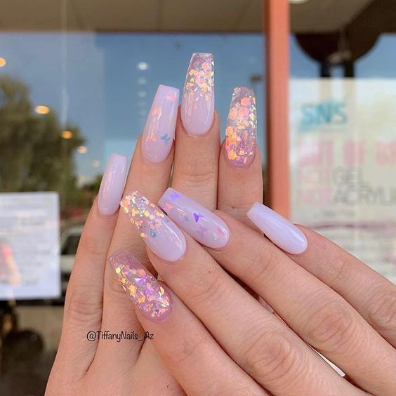 Acrylic nail art designs and ideas are fashionable these days for the right reasons. To add a little ext… in 2020   Purple nails, Pretty acrylic nails, Coffin nails designs
