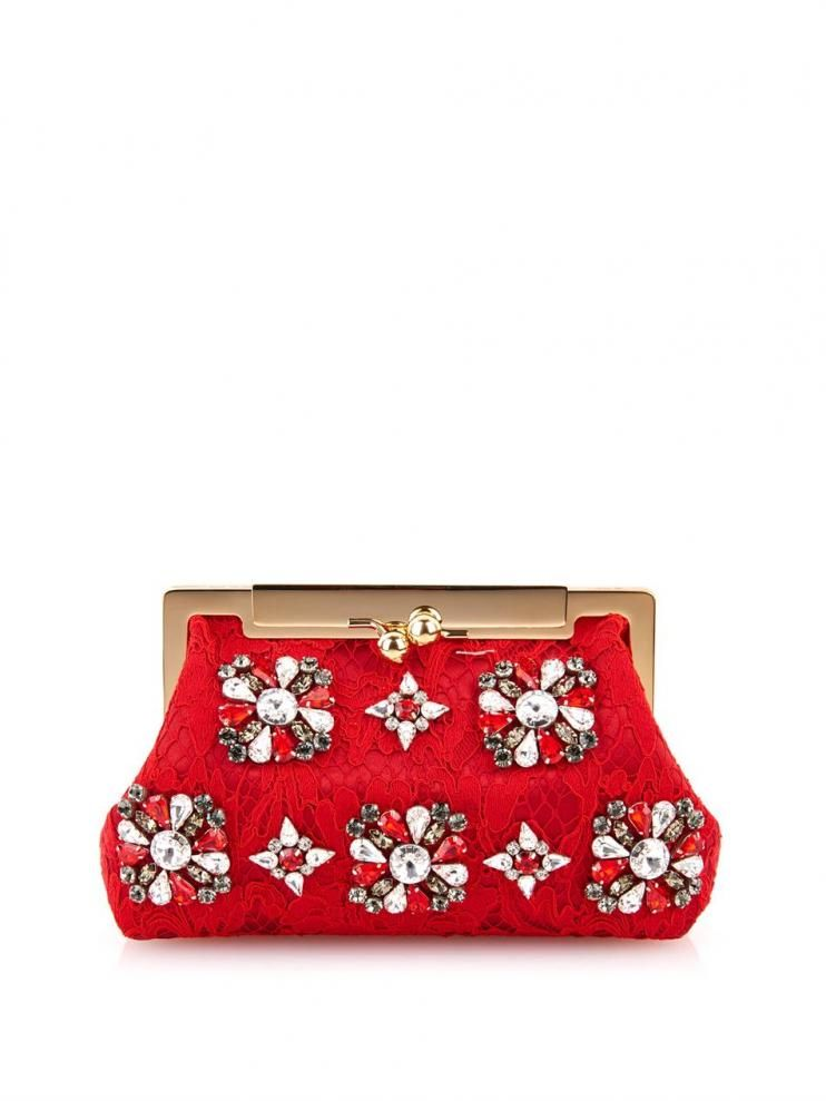 Sara Lace And Crystal Clutch Dolce & Gabbana Source: http://www.closetonthego.com/e-shop-product/65238/sara-lace-and-crystal-clutch/ © Closet On The Go