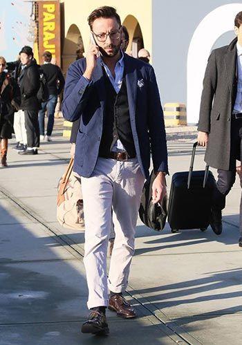054d5e93086ff 定番中の定番! 紺ジャケット×白パンツ×茶革靴の春コーデ(メンズ ...