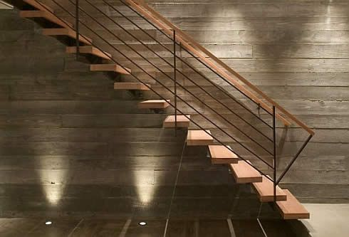 Wooden Inspiration Ocho House Freshome Com Stairs Design Staircase Design Floating Stairs