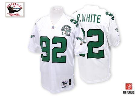 buy popular 178c1 5f9fc Mitchell And Ness Philadelphia Eagles #92 Reggie White White ...
