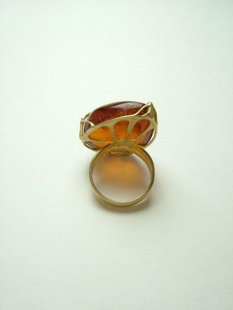 Amber And Gold Asagi Maeda Earrings Jewelry Ring Stone