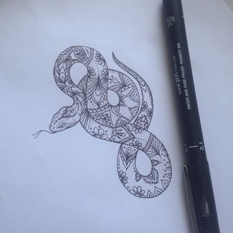 Pattern snake tattoo by medusa lou tattoo artist – medusa …  #diytattooimages – diy tattoo images