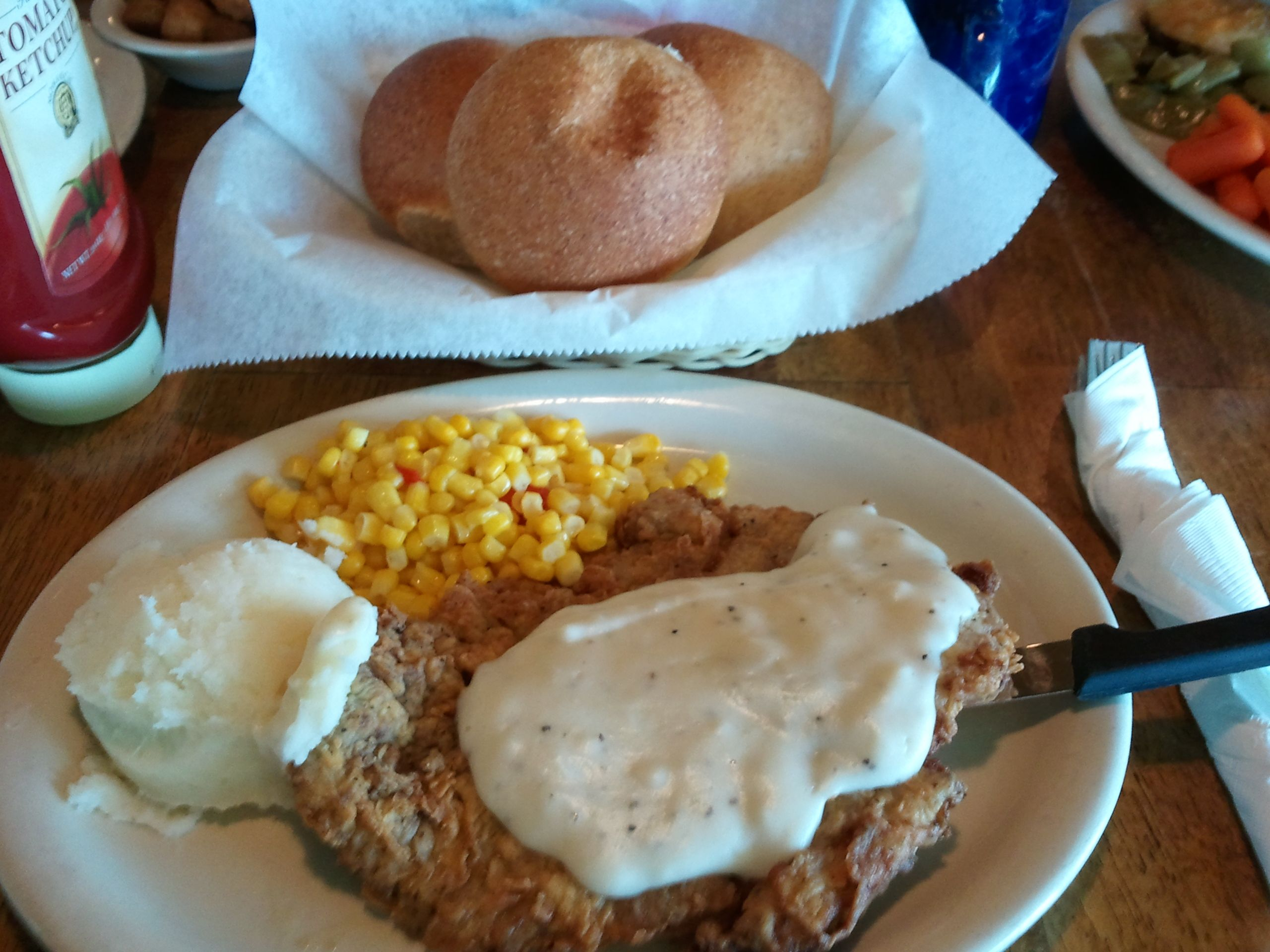 Chicken Fried Steak At Billy Gene S Restaurant Kerrville
