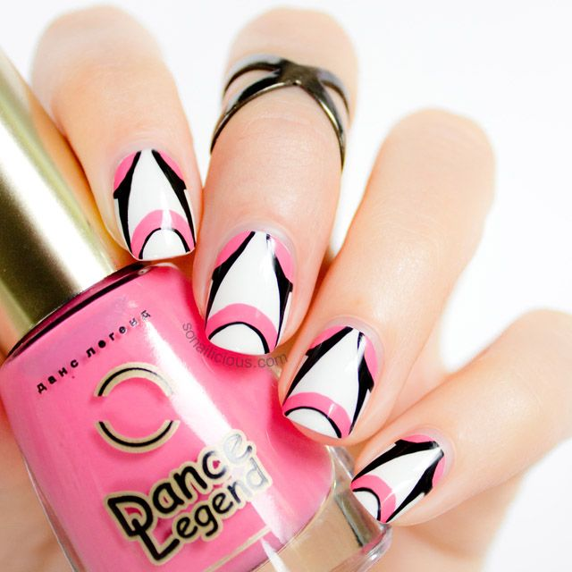 By Johnny 2014 Inspired Futuristic Pink And White Nail Tutorial