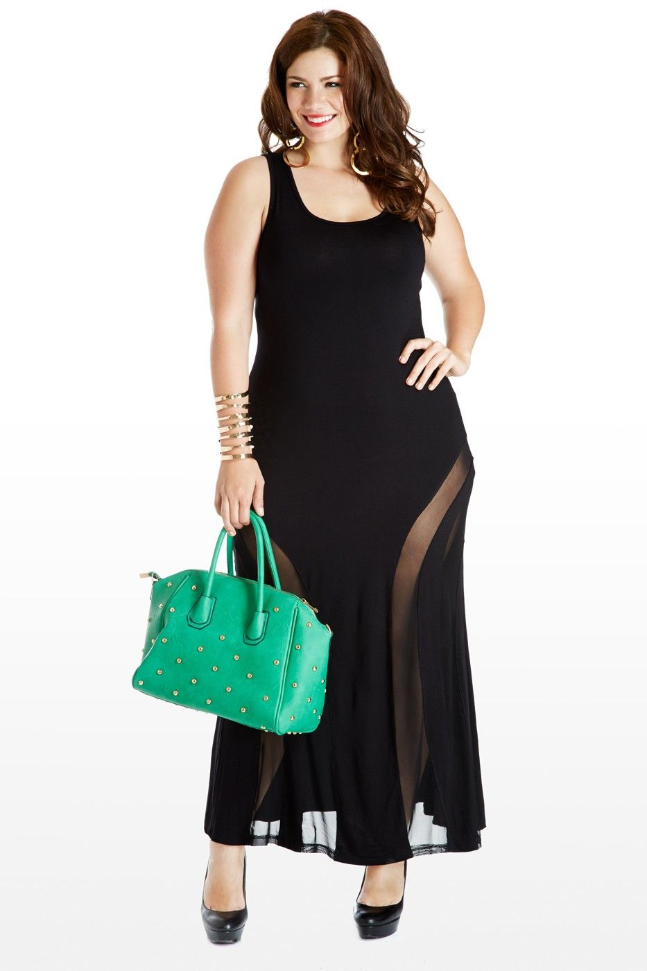 Every Minute Every Hourglass Plus Size Mesh Maxi Dress