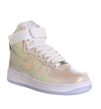 new products a76fe 6fed6 Nike Air Force 1 Hi Prm Wmns White White Metallic Silver Qs - Hers trainers