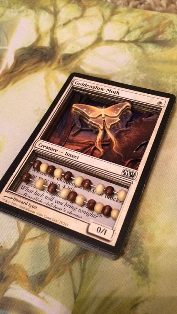 Custom 3D Card by LaserBits on Etsy Magic the gathering