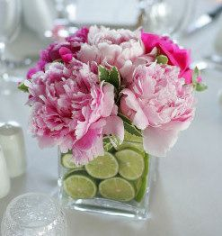 Flowers and Limes Centerpieces